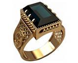 Кольцо мужское серебряное Доллар 30303, фото 2