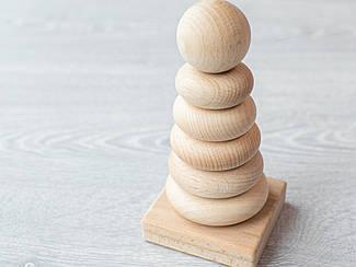 Детская игрушка. Пирамида 7 елементов. Эко продукт. 7х15см