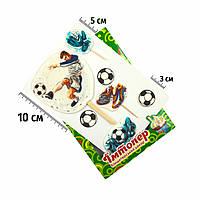 Набор сахарных топперов Футболист