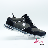 Модельные мужские замшевые кроссовки