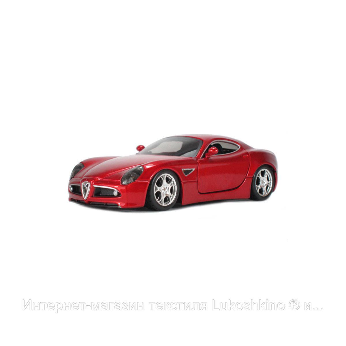 Автомодель - ALFA 8C COMPETIZIONE (2007) (красный металлик, 1:32)