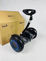 Міні сігвей Ninebot Mini Robot Чорний з підсвічуванням коліс   Двоколісний гироскутер Найнбот Міні Робот дитячий