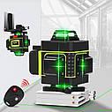 БЕЗКОШТОВНА ДОСТАВКА ! Лазерний рівень Hilda 4D 16 ліній з дисплеєм заряду ➜ ПУЛЬТ + ШТАТИВ, фото 2