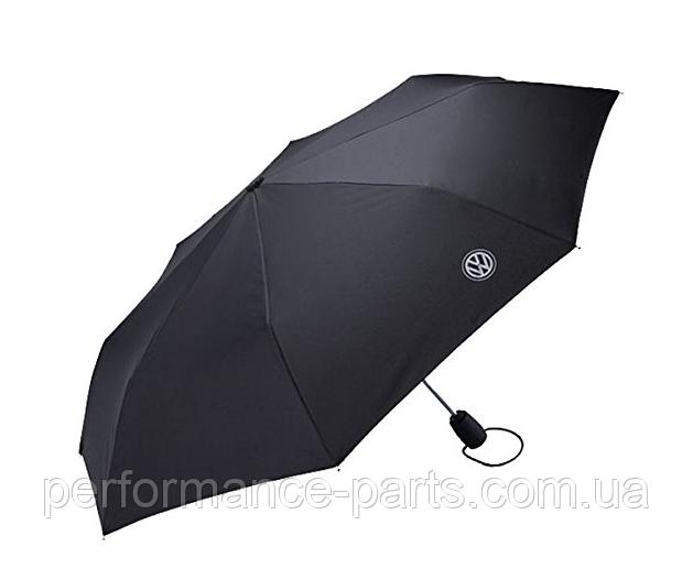 Зонт складной VOLKSWAGEN POCKET UMBRELLA, 000087602K. Оригинал. Черного цвета.