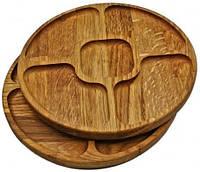 Менажниця дерев'яна кругла 24 см