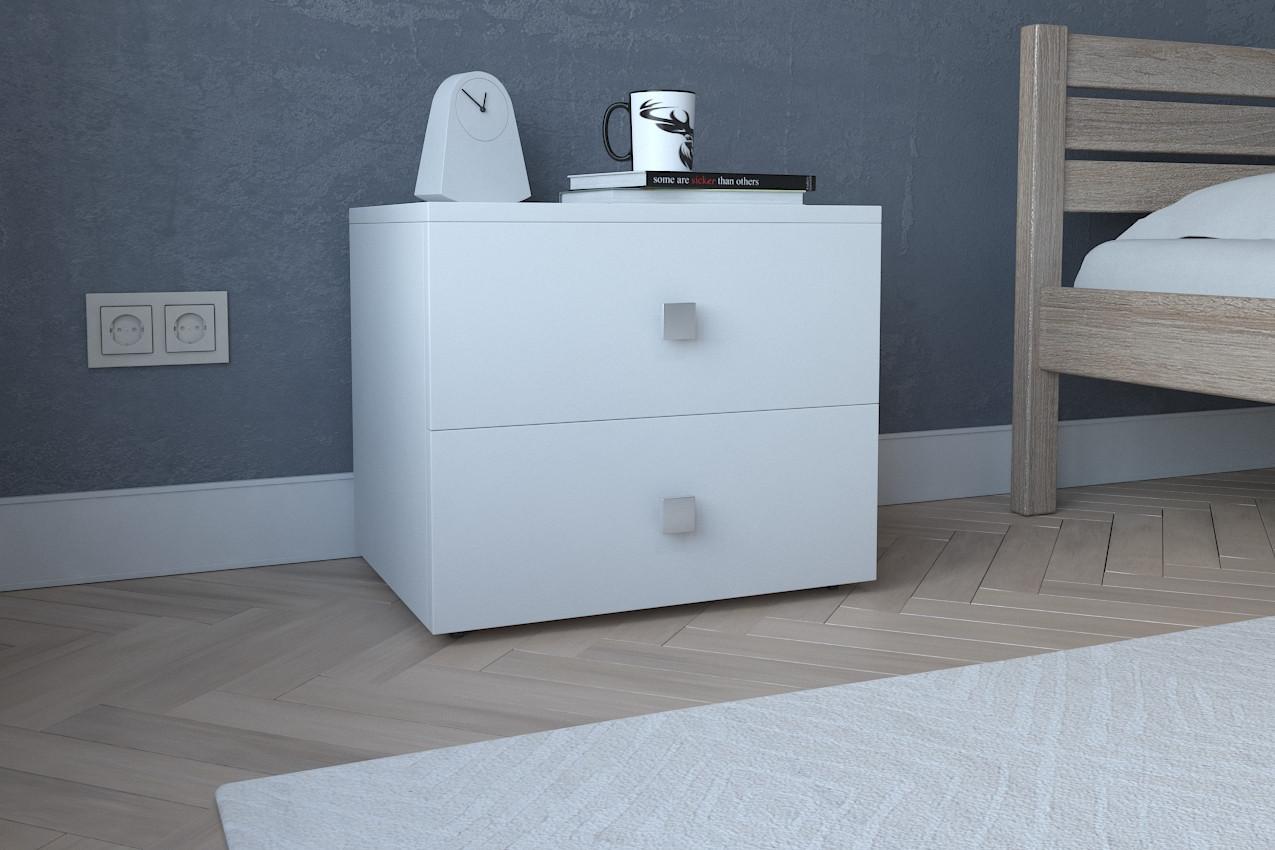 Тумба прикроватная Ультра3 ,Прикроватная  из ДСП цвета Белое от МебельСтиль