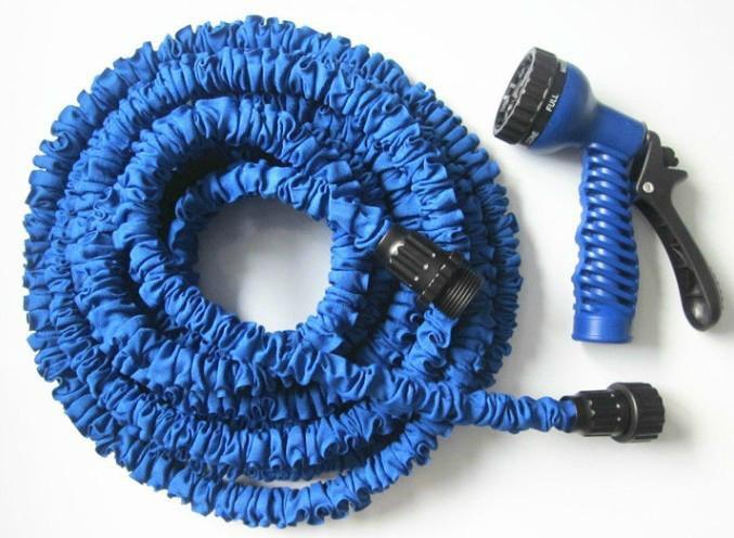 Садовый шланг Magic Hose 7.5 м с распылителем Синий (sp2704)