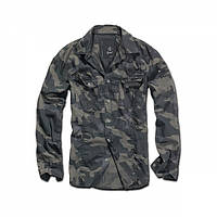 Рубашка Brandit Slimfit Shirt Darkcamo, XXXL