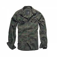 Рубашка Brandit Slimfit Shirt Woodland, XXXL