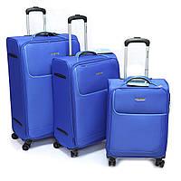 """Набір тканинних валіз Madisson, (29 """"/ 24"""" / 28 """") на 4-х колесах, синій, фото 1"""