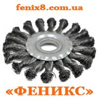 Щетка-крацовка радиальная,плоская закрученная 100х22,2мм,Spitce 18-160