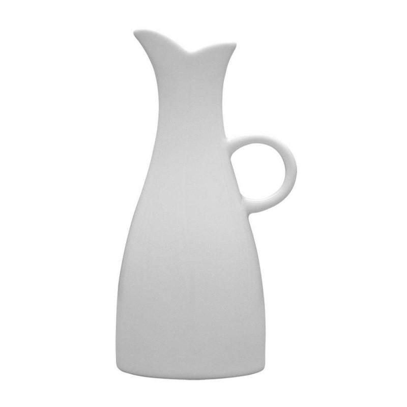 Глечик для масла білий фарфор Lubiana Ewa 150 мл ємність для олії в кафе бар ресторан