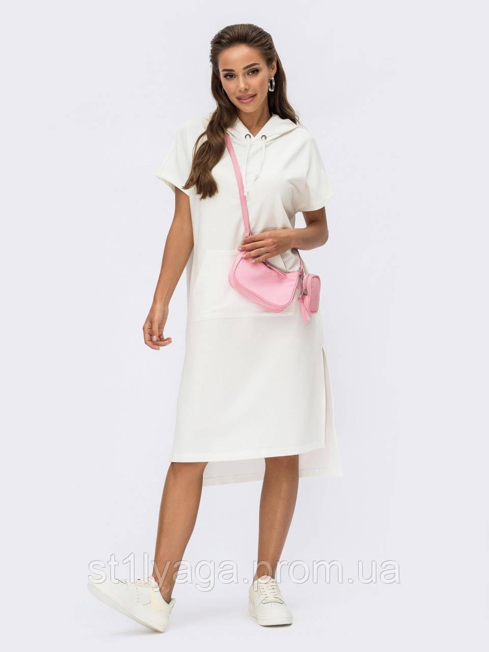Сукня в спортивному стилі з коміром-хомут