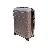 Полипропиленовый чемодан малого размера Snowball Robust серый, фото 1