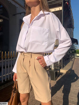 Костюм с шортами из софта и костюмного крепа