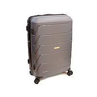 Пластиковый чемодан средний 65 л Snowball Robust серый, фото 1