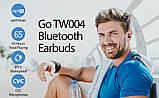 Бездротові TWS навушники Nillkin GO TW004 Сірі Qualcomm V5.0, Apt-X 13h, фото 8