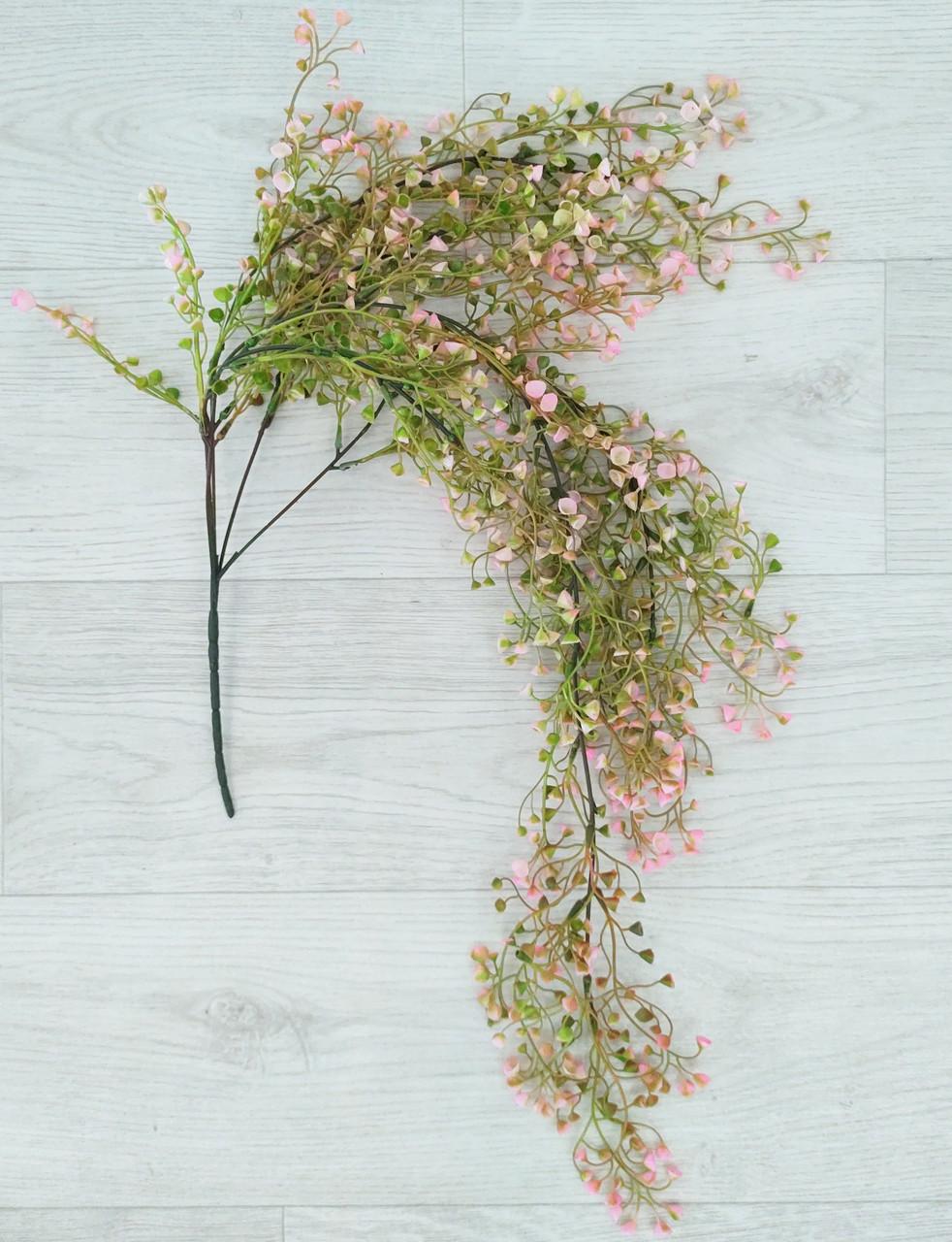 Гілка штучна ампельна 85 см, Квітуча рожева