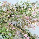 Ветка искусственная ампельная 85 см, Цветущая розовая, фото 3
