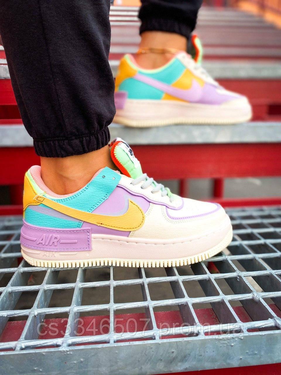 Nike Air Force 1 Shadow Blue-Pink