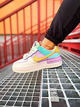 Nike Air Force 1 Shadow Blue-Pink, фото 2