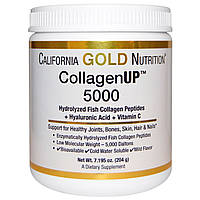 Рыбий коллаген для кожи California Gold Nutrition, CollagenUP 5000, 204г