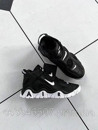 Nike Air Barrage Mid QS UniversityMid Black White, фото 2