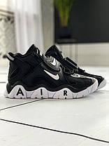 Nike Air Barrage Mid QS UniversityMid Black White, фото 3