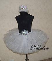 """Карнавальна спідниця сукні з фатіну """"СНІЖИНКА"""", фото 2"""