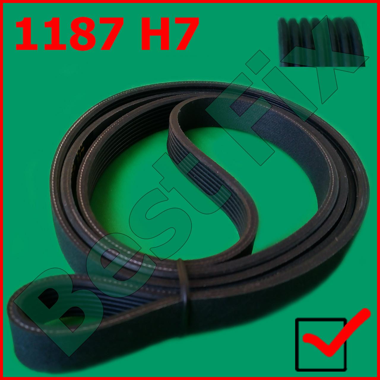 Ремень 1187 H7 EL Megadyne черный