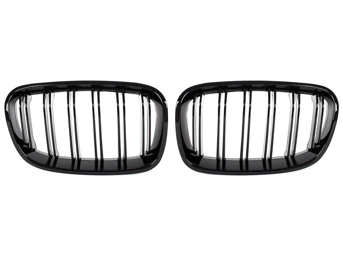 BMW 1 F20 / F21 11-14 3 / 5D хэтчбек решетка между фарами (ноздри) левый + правый комплект. BLACK GLOSSY