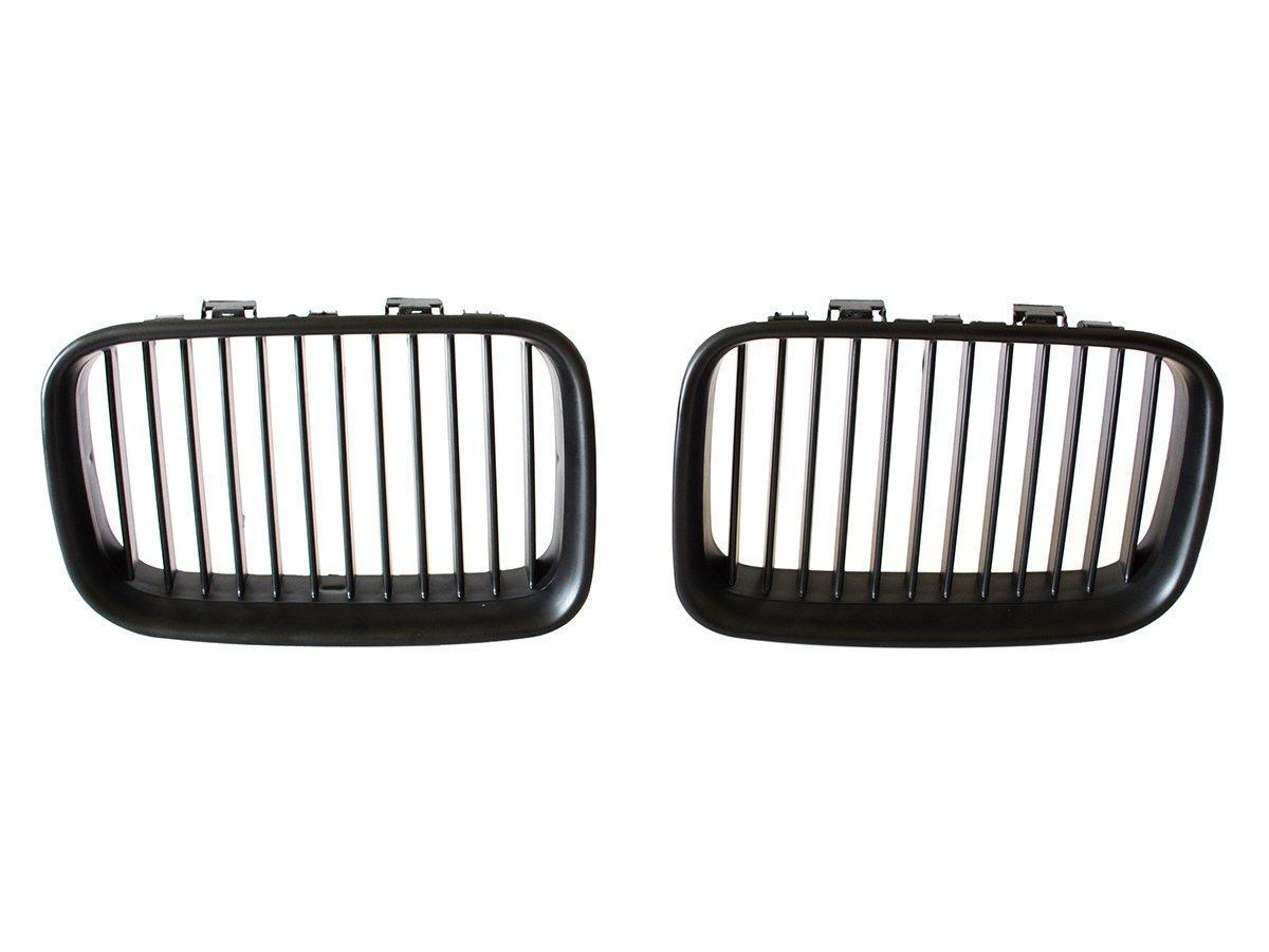 BMW 3 E36 90-96 решітка між фарами (ніздрі) ліва + права комплект. чорні