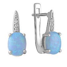 Серебряные серьги MioDio с опалом 1.665ct (2060345)