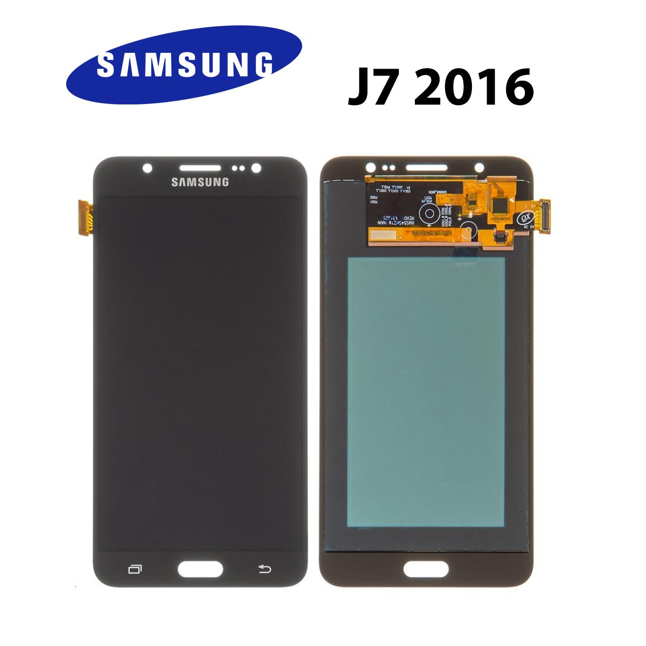 Дисплейный модуль TFT Samsung J7 2016 (J710/710F/J710FN) черный, дисплей/экран + тачскрин/сенсор самсунг ж7