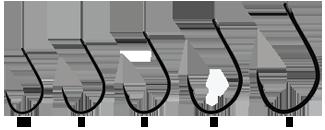 Крючок Hayabusa K-1 №4(10шт)