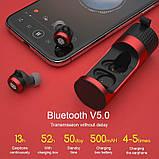 Беспроводные TWS наушники Nillkin GO TW004 Красные Qualcomm V5.0, Apt-X 13h, фото 9
