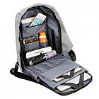 Рюкзак-протикрадій Bobby (Репліка) міський з USB портом і світловідбивними смугами ОПТ, фото 8