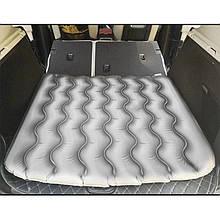 Lb Надувний автомобільний матрац ZG-1 Gray на заднє сидіння для сну подорожей 90*100*8 см