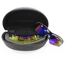 Lb Сонцезахисні антиблікові окуляри Han-Wild 9302 Blue поляризаційні для вело спорту водіїв сноуборду