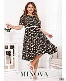 Женственное платье миди в романтическом стиле  Размеры: 50,52,54,56, фото 2