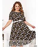 Женственное платье миди в романтическом стиле  Размеры: 50,52,54,56, фото 3