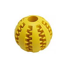 Lb Іграшка м'яч для собак Pipitao 026631 Yellow D:5,0 см жувальний гумовий