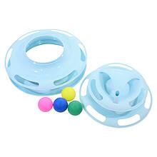 Lb Іграшка для кота Taotaopets 077705 Вежа Blue 25*16.5 см інтелектуальна 4-х рівнева