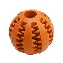 Lb Іграшка м'яч для собак Pipitao 026631 Orange D:7,0 см жувальний гумовий