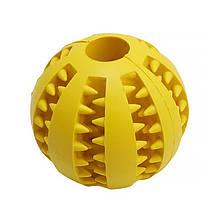 Lb Іграшка м'яч для собак Pipitao 026631 Yellow D:7,0 см жувальний гумовий
