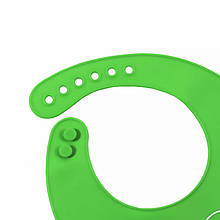 """Lb Детский нагрудник-слюнявчик CUMENSS """"Мультяшки"""" Green силиконовый с карманом для малышей кормления"""
