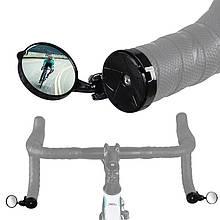 Lb Велосипедне міні дзеркало West Biking 0720017 Black заднього виду в трубу керма регульоване кругле