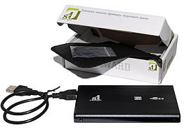 """Внешний карман 1StCharger SATA HDD/SSD 2.5"""", USB 2.0, Black (HDE1STU2520B)"""