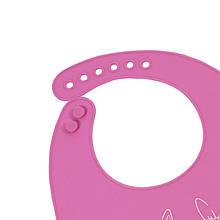 """Lb Детский нагрудник-слюнявчик CUMENSS """"Мультяшки"""" Pink силиконовый с карманом для малышей"""