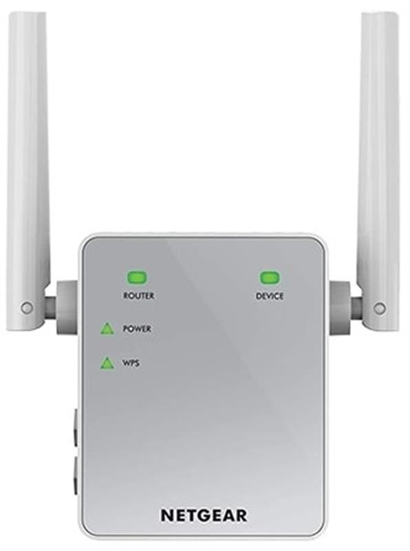 Расширитель WiFi-покрытия Netgear EX6120 (EX6120-100PES) (AC1200, 1xFE LAN, 2x внешн. ант.)